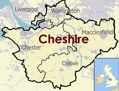 Cheshire Outline map